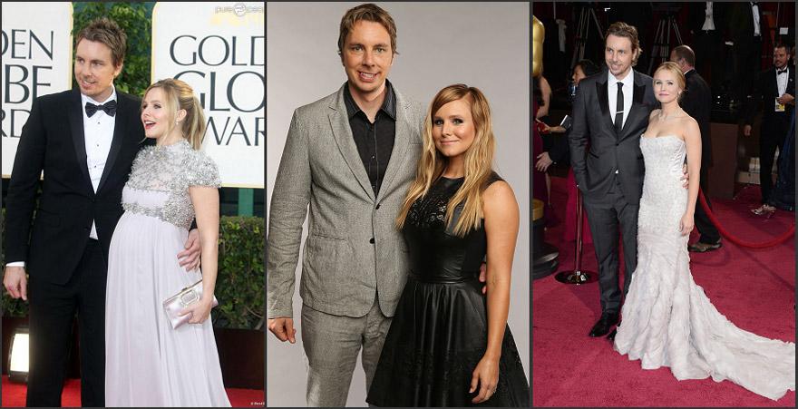 Kristen Bell et Dax Shepard sur les tapis rouge en robes magnifique
