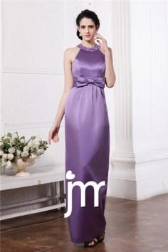 Robe habillée élégante en satin violet