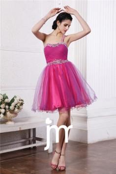 Mini robe de fête fuchsia ornée de strass