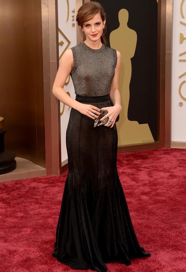 Emma Watson dans une robe longue Vera Wang