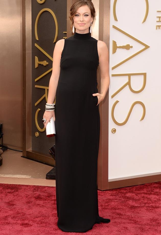 Olivia Wilde en robe noire de Valentino