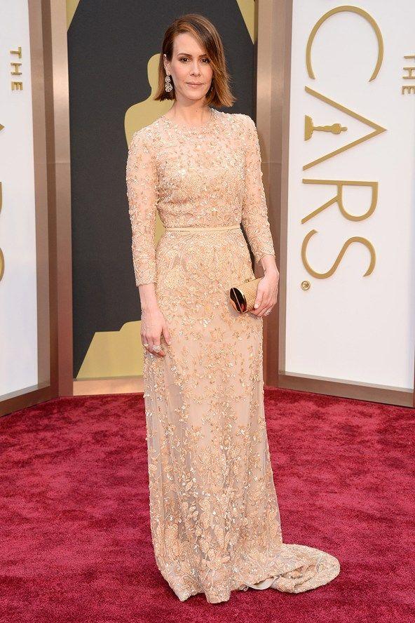 Sarah Paulson en robe de soirée d'Elie Saab
