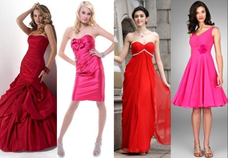 Robes rouge de style différent