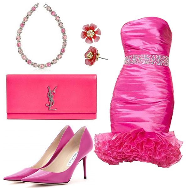 Un outfit coloré fuchsia pour mariage d'été