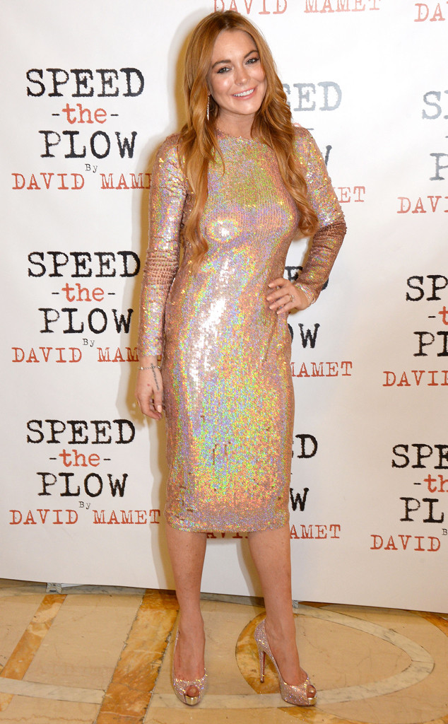 Style pailleté comme Lindsay Lohan