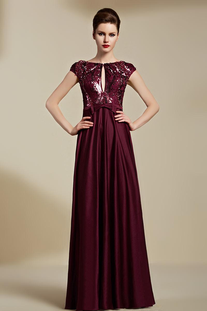 robe de soirée bordeaux en ligne