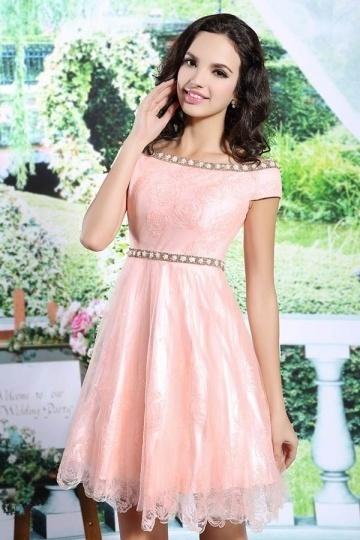 Petite robe rose pour une fête d'anniversaire