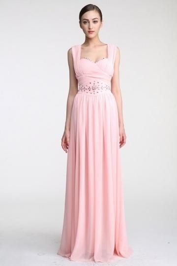 robe-ceremonie-longue-rose-avec-mancherons