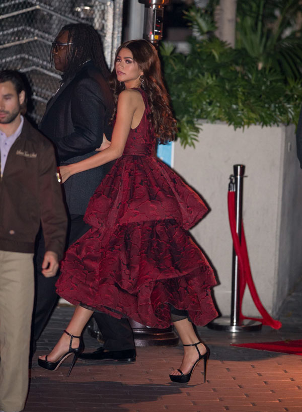 Zendaya-Magically-en-robe-bordeaux