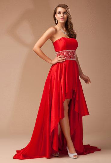 robe-de-bal-rouge-courte-devant