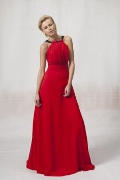 Robe cocktail rouge pas cher pour assister à un mariage d'été