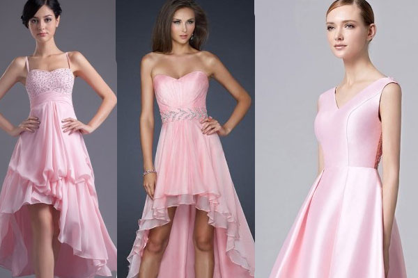 Robes rose pale courte pour mariage