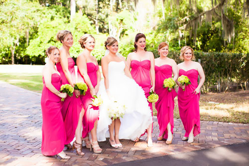 Robes longues fuchsia pour mariage