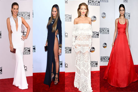 Robe de soirée Americans Music Awards, Kate Beckinsale, Chrissy Teigen,Kylie Jenner, Selena Gomez