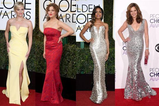 Looks de robes sirènes de célébrité sur tapis rouge 2017