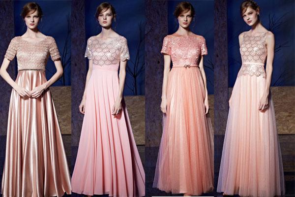 Robe rose longue pour mariage