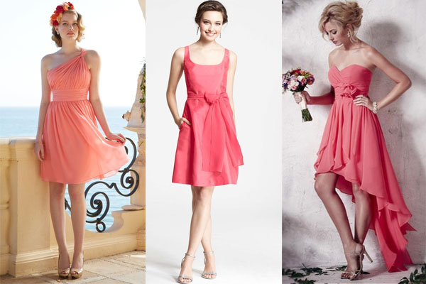 Robe de soiree rose corail