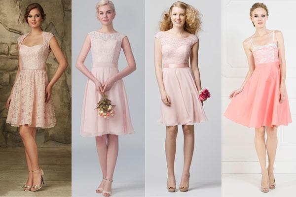 Robe rose courte pour mariage