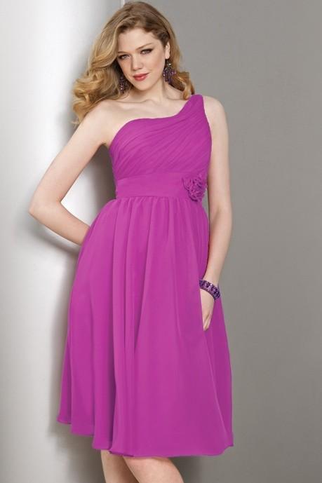 robe asymétrique en mousseline pour mariage