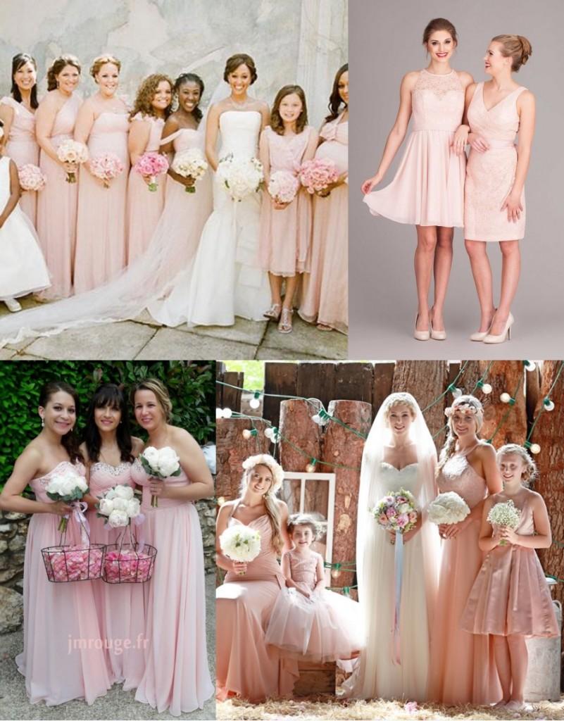 Robes demoiselles d'honneur en différents styles et longueurs