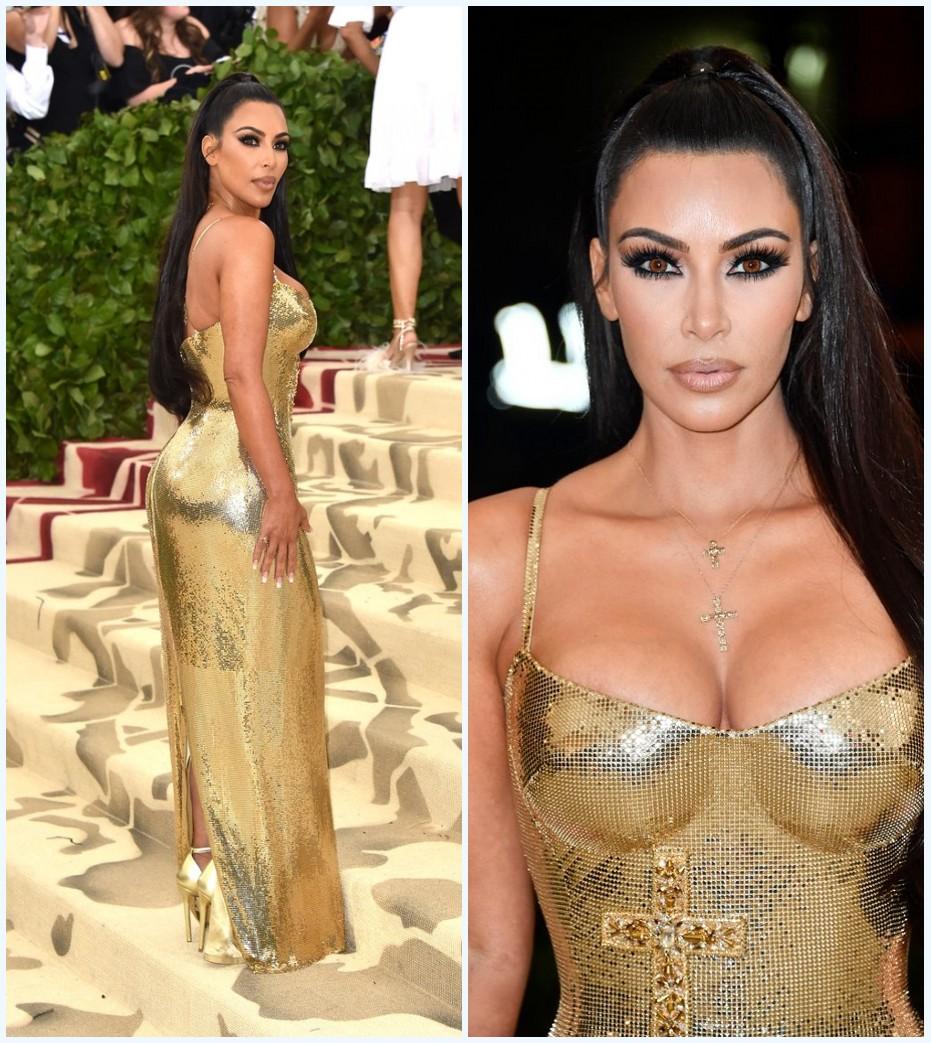 Kim Kardashian en or