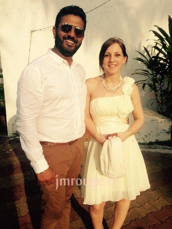 témoignage client de robe cocktail mariage courte asymétrique