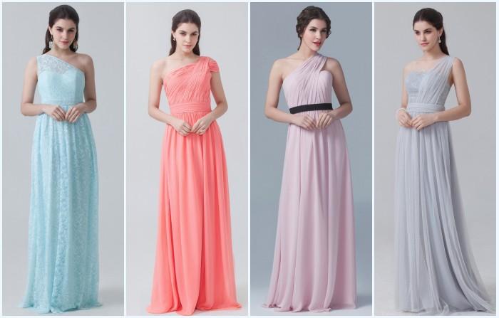 robes asymétriques longues pour soirée ou gala