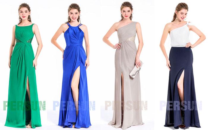 robes longues de soirée avec fente