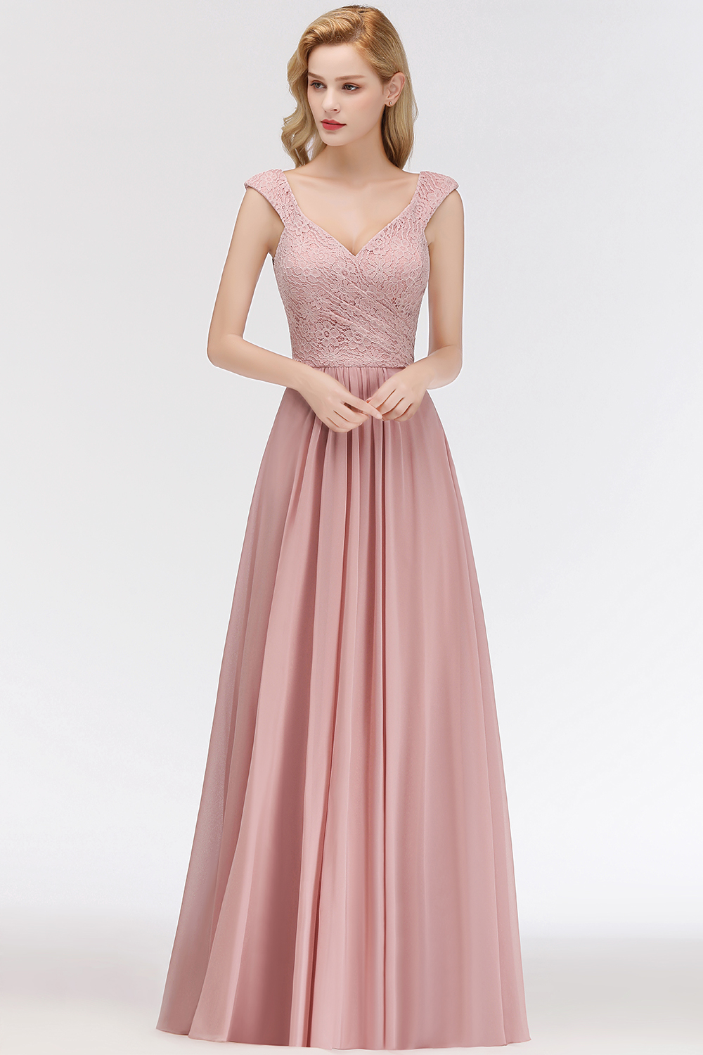 robe demoiselle d'honneur rose queen anne