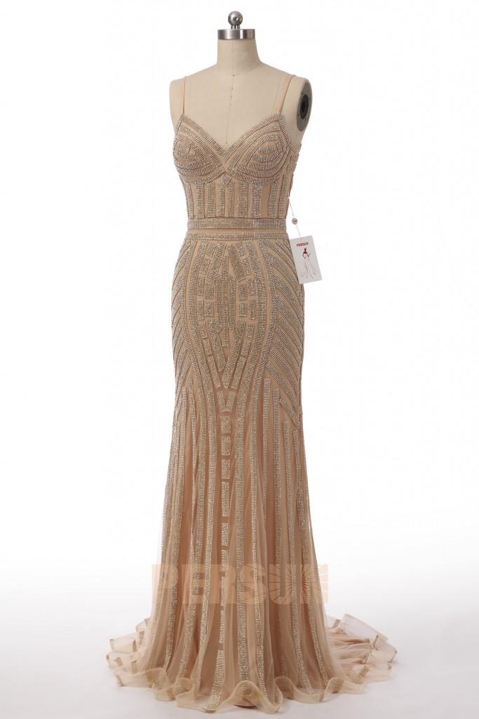 robe de soirée sirène col en V