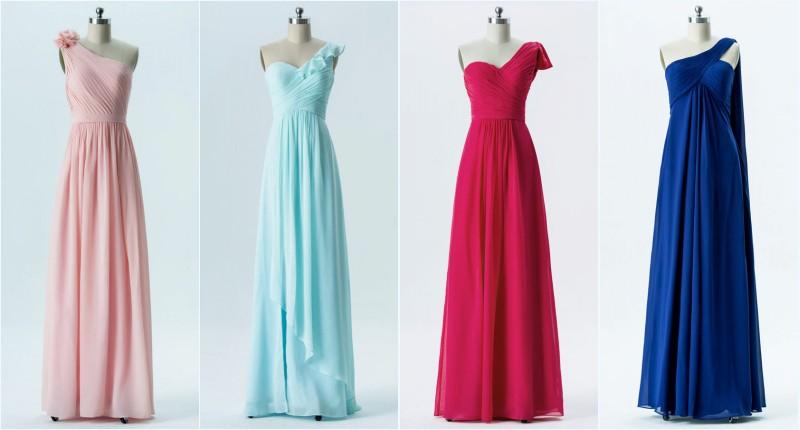 robes de soirée longues asymétrique pas cher