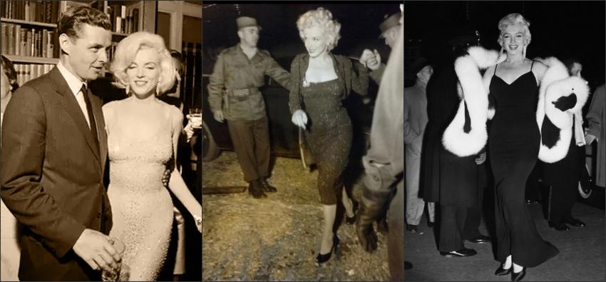 Marilyn Monroe l'arbore lors de l'anniversaire du président John Kennedy