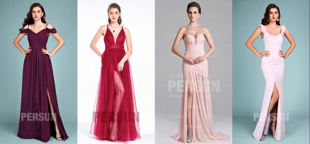 4 robes de soirée fendue pour mariage en été 2019