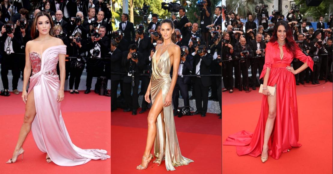 robes de soirée fendue des stars au tapis rouge de cannes 2019
