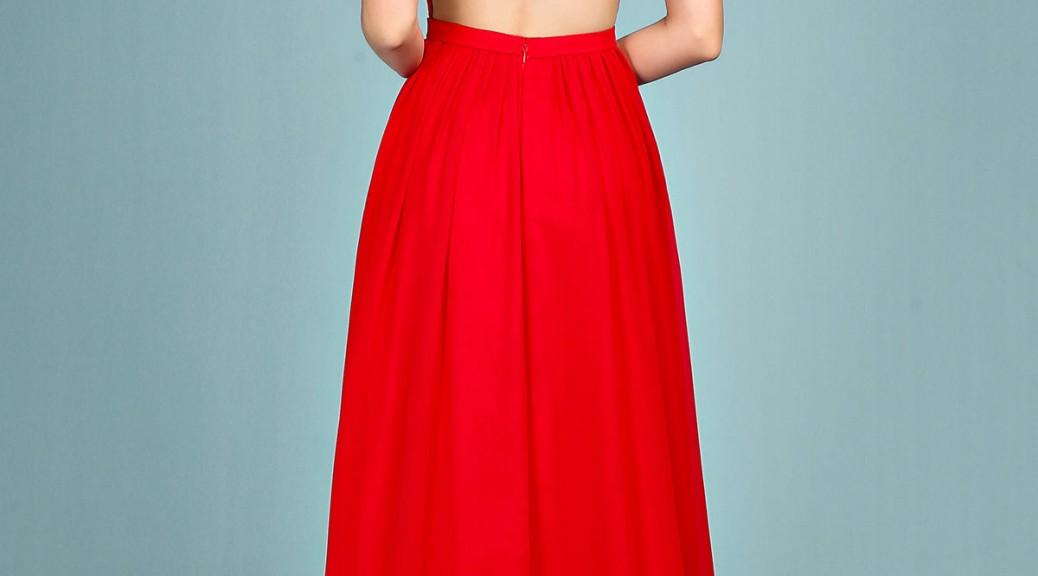 robe de soirée longue dos nu haut en dentelle transparente exquise