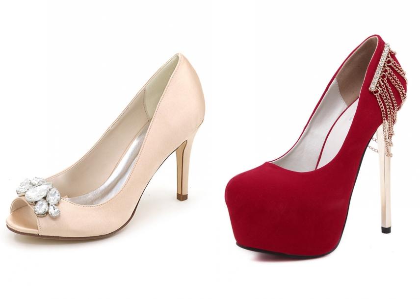 chaussure talon haut pour robe rouge