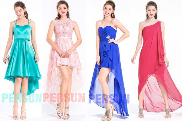 robe cour devant longue derrière pour femme