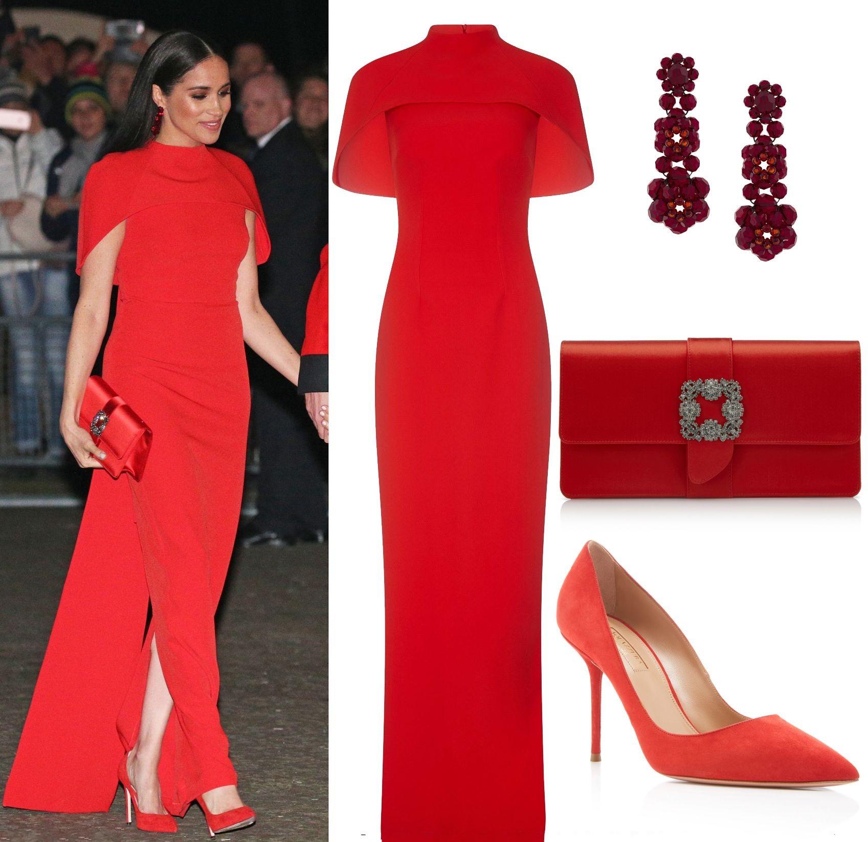 accessoire appropriée pour robe rouge