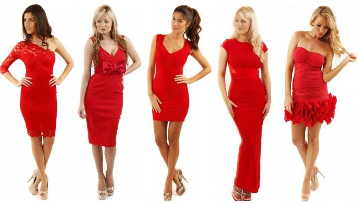 robe rouge chic pour femme romantique