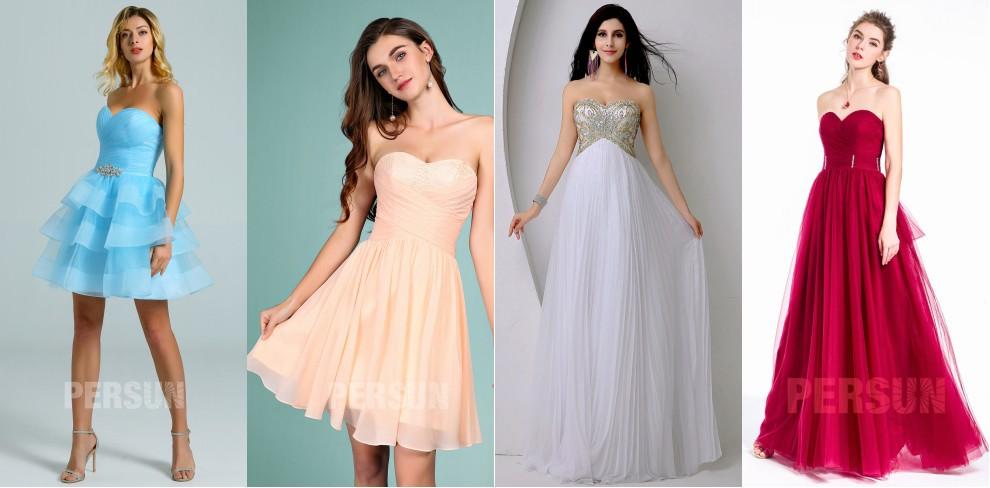robe de cérémonie bustier coeur élégante et classe