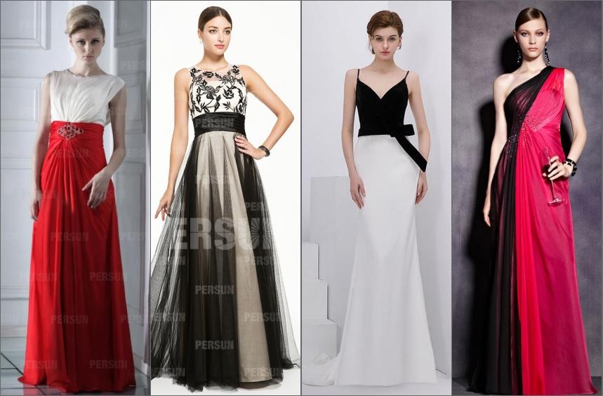 robe bicolore longue pour soirée