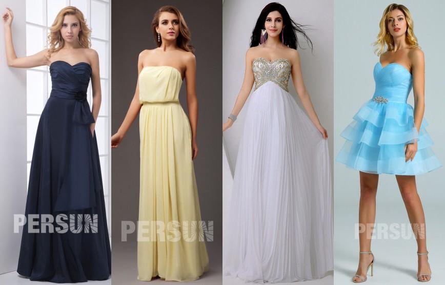 robe de soirée bustier