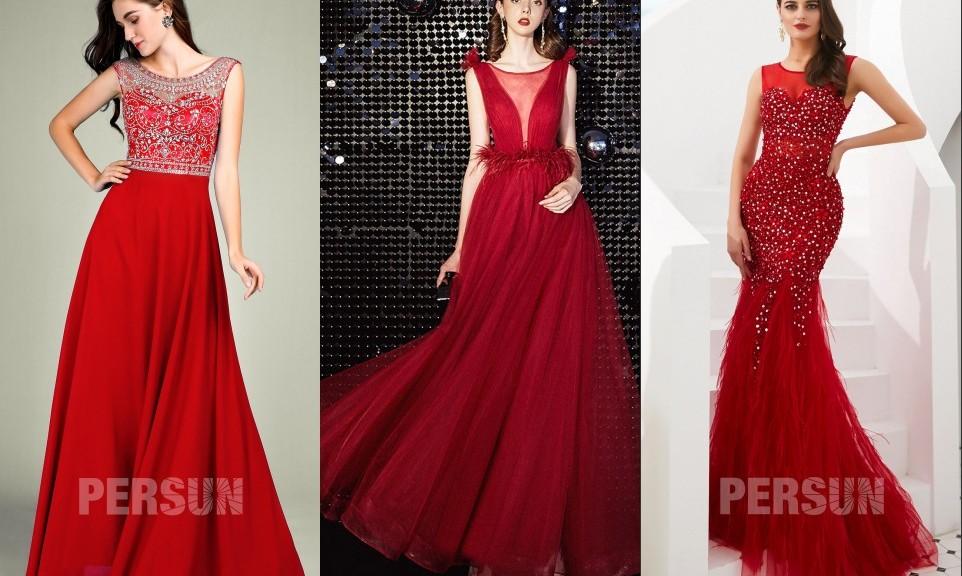 robe de soirée rouge longue