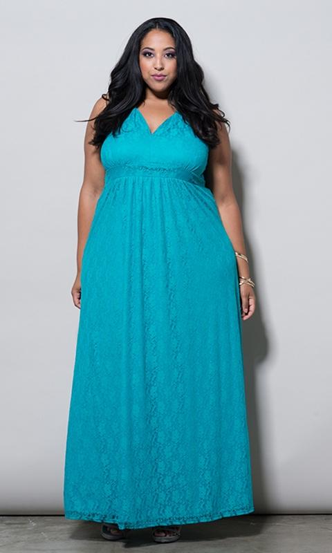 robe de soirée longue bleu en dentelle