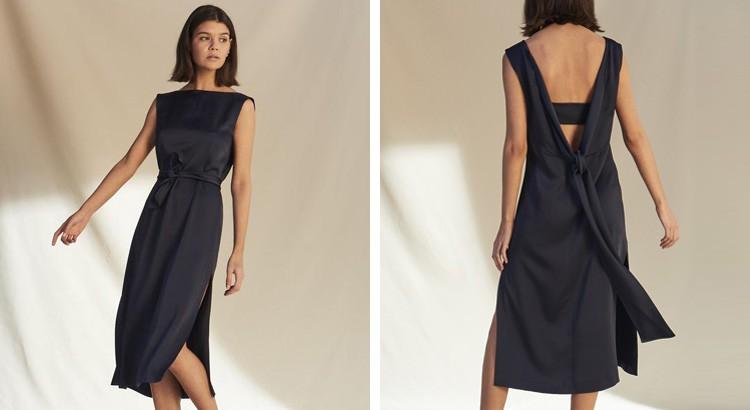 petite robe noire chic fendue à dos ouvert