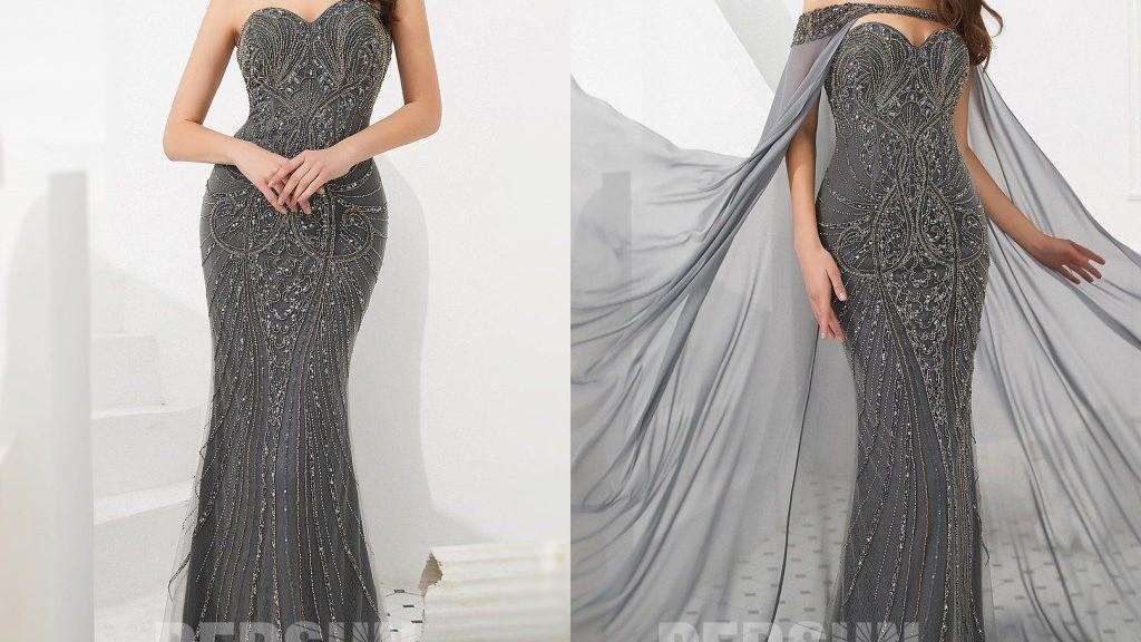 magnifique-robe-soiree-sirene-gris-fonce-2020-bustier-coeur