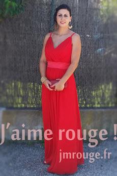 Avis JMRouge.fr robe de soirée rouge