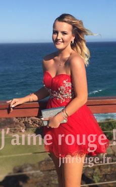 Avis robe de bal courte rouge JMRouge.fr
